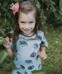 kids hedgehog T-shirt Light blue