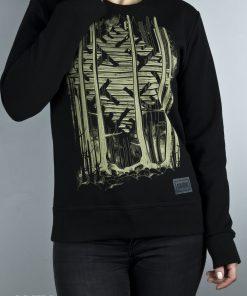 Black Thunder cross sweater