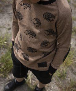 bērnu džemperis ar ežu apdruku