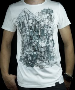 Graphic architecture sketch T shirt