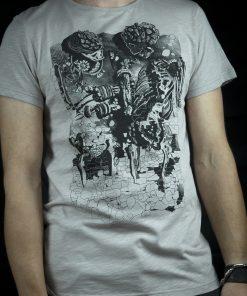 T-shirt - Smiling light gray