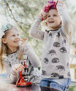 Kids long sleeve T-shirt with hedgehog print