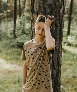 T-shirt with animals brown