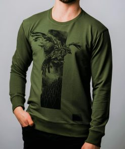 bird sweater green