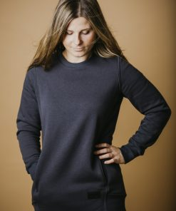 Sweater with extended back - tunic