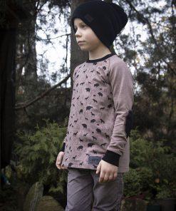 bērnu džemperis ar elkoņu uzšuvēm